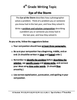 LEAP 2025 Test Prep e Writing Prompt: Eye of the Storm | TpT