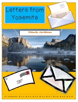 Common Core/PARCC Writing Prompt:  Letters from Yosemite (Revised)