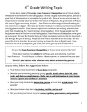 Common Core/PARCC Fourth Grade Writing Prompt: Seeker of Knowledge