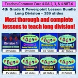 4th Grade Long Division Bundle - 8 Powerpoint Lessons - 35