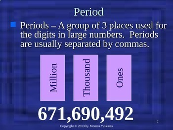 Common Core 4th - Place Value 2 - Read Numbers to a Million
