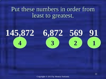 Common Core 4th - Place Value 4 - Ordering Numbers