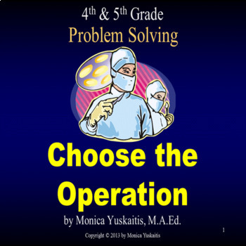 Common Core 4th - Problem Solving - Choose the Operation
