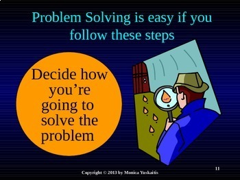 4th Grade Problem Solving - Write a Number Sentence Powerpoint Lesson