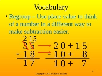 Common Core 4th - Subtraction 2 - 4 Digit Numbers with Regrouping