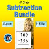 4th Grade Subtraction Bundle - 2 Powerpoint Lessons - 54 Slides