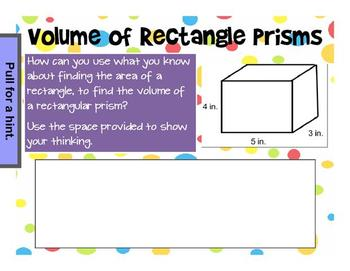 Common Core 5.MD.5 Volume of Rectangular Prism Mimio and printable