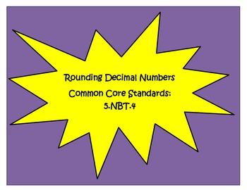 Common Core 5.NBT.4  Rounding Decimals