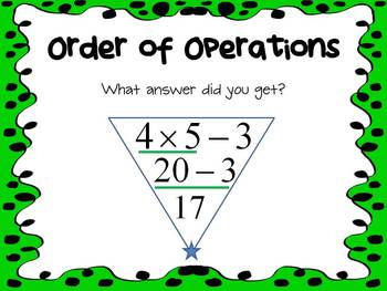 Common Core 5.OA.1 - Order of Operations Mimio with Responder Activity