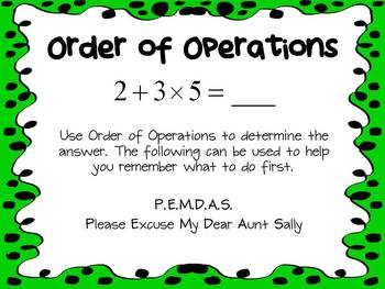 Common Core 5.OA.1 - Order of Operations PowerPoint with Responder Activity