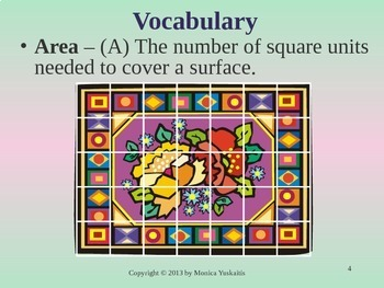 Common Core 5th - Area of Rectangles and Squares