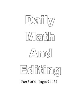 Common Core 5th Daily Math Spiral Review and Editing part 3 of 4