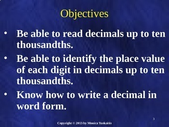 Common Core 5th - Decimals 1 - Introduction & Place Value