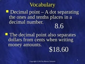 Common Core 5th - Decimals 12 - Dividing Money