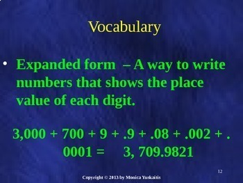 Common Core 5th - Decimals 2 - Standard, Expanded & Word Form & Comparing