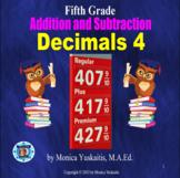 5th Grade Decimals 4 - Addition & Subtraction of Decimals