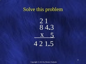 Common Core 5th - Decimals 6 - Multiplying Decimals by Whole Numbers