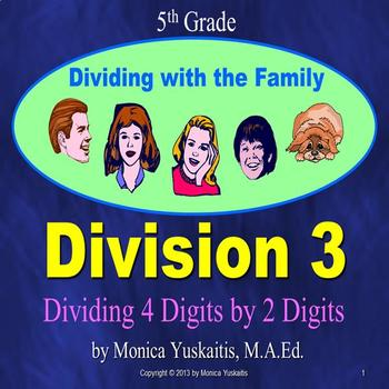 Common Core 5th - Division 3 - Dividing 4 Digits by 2 Digits