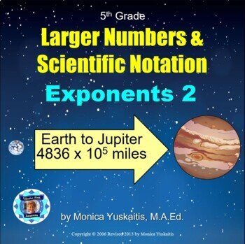 Common Core 5th Exponents 2 - Scientific Notation