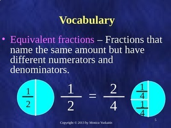 Common Core 5th - Fractions 1 - Equivalent Fractions