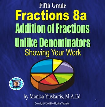 Common Core 5th - Fractions 10 - Subtraction of Unlike Den