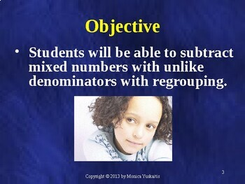 Common Core 5th - Fractions 13 - Subtract Mixed Numbers w Unlike Denominators