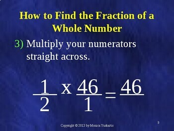 Common Core 5th - Fractions 14 - Multiplication of Fractions and Whole Numbers