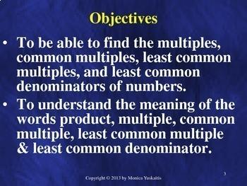 Common Core 5th - Fractions 5 - Least Common Multiple & Least Common Denominator