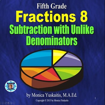 Common Core 5th - Fractions 9 - Subtraction with Unlike De