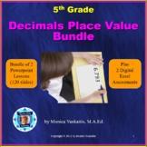 5th Grade Decimal Place Value Bundle - 3 Powerpoint Lesson