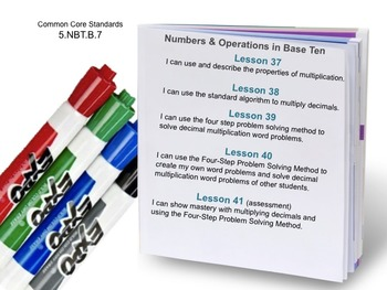 Week 8 Multiplying Decimals Common Core 5th Grade EDI Math Lessons
