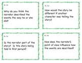 Common Core 5th Grade ELA Question Cards