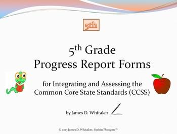 Common Core 5th Grade English Standards Cumulative Progress Reports