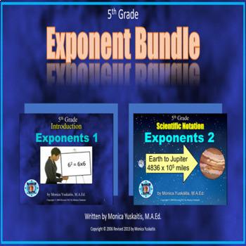 Common Core 5th Grade - Exponent Bundle - 2 Lessons - 79 slides