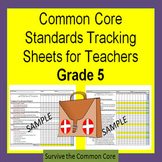 Tracking Sheets (EDITABLE) Common Core 5th Grade Math by Domain/Cluster/Standard