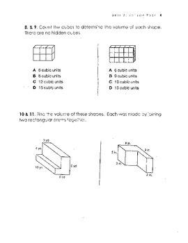 Common Core 5th Grade Math Volume Quiz
