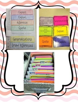 Common Core 5th Grade Reading Vocabulary Task Cards and Foldable
