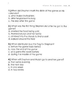 Common Core 5th Grade Sequence Test