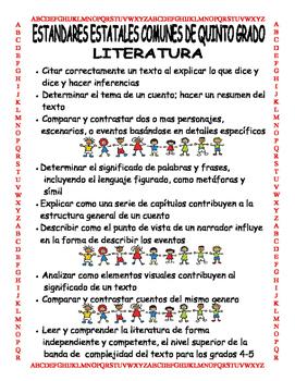Common Core 5th Grade Spanish