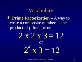 Common Core 5th - Prime Factorization