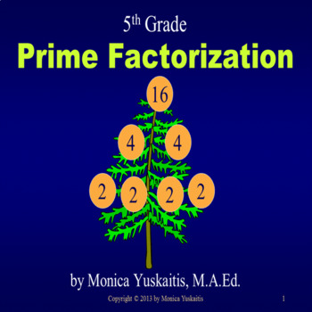 Common Core 5th - Prime Factorization
