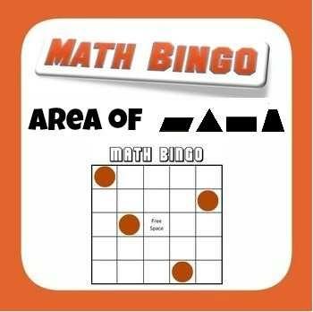 Common Core 6.G.1. - Area Bingo- Triangles Parallelograms & Trapezoids