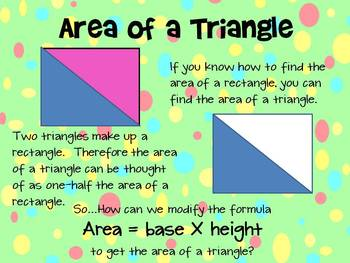 Common Core 6.G.1 Area of Triangle Mimio and printable