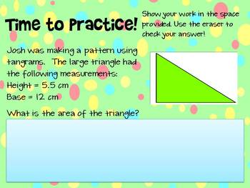 Common Core 6.G.1 Area of Triangle PowerPoint and Printable