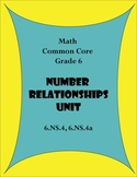 Common Core 6.NS.4  - Number Relationsips UNIT