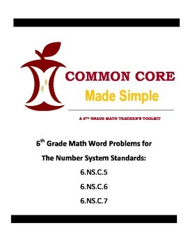6th Grade Common Core 6.NS.C.5-7 Word Problems