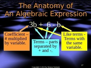 Common Core 6th - Algebra 1 - Algebraic Expressions, Variables, & Evaluating