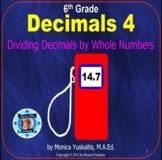 6th Grade Decimals 4 - Dividing Decimals by Whole Numbers