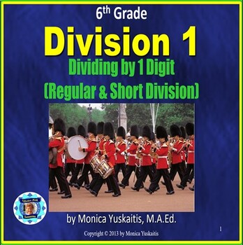 Common Core 6th - Division 1 - Long and Short Division wit