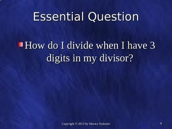 Common Core 6th - Division 5 - Dividing by 3 Digits
